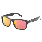 CARSHIRO 66108-7 Grey Plating Red REVO Resin Lens Polarized Sunglasses - Black