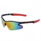 CARSHIRO 9184 Outdoor Cycling UV400 Protection Sunglasses w/ Replacement Lenses - Black + Red