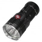 SingFire SF-134B 2500lm White 3-mode High Light Flashlight w/ 4 x Cree XM-L T6 - Black (4 x18650 )