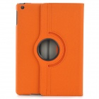 Protective 360 Degree Rotation Fiber Leather + Plastic Case w/ Auto Sleep for Ipad AIR - Orange