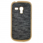 Elegant Protective Plastic Back Case for Samsung i8190 - Black + Golden