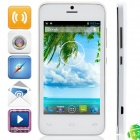 "W101 MTK6572 Dual-Core Android 4.2.2 WCDMA Bar Phone w/ 4.0"", Wi-Fi, FM and GPS - White"