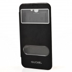 GUCEEL PU Leather Case Cover Stand w/ Visual Window for Samsung Galaxy Note 2 N7100 - Black