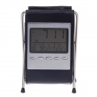 "2.8"" LCD Alarm Clock + Calendar + Thermometer with Leather Folding Pen Holder (2 x AG13)"