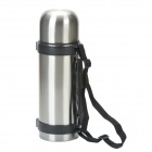Outdoor Travel Stainless Steel Dual-Layer Vacuum Bottle - Silver (1.1L)