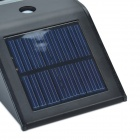CMI LEH - 44014BW 2 - LED White Light Solar Sensor PIR Light / Wall Light / asennettu valo - Musta