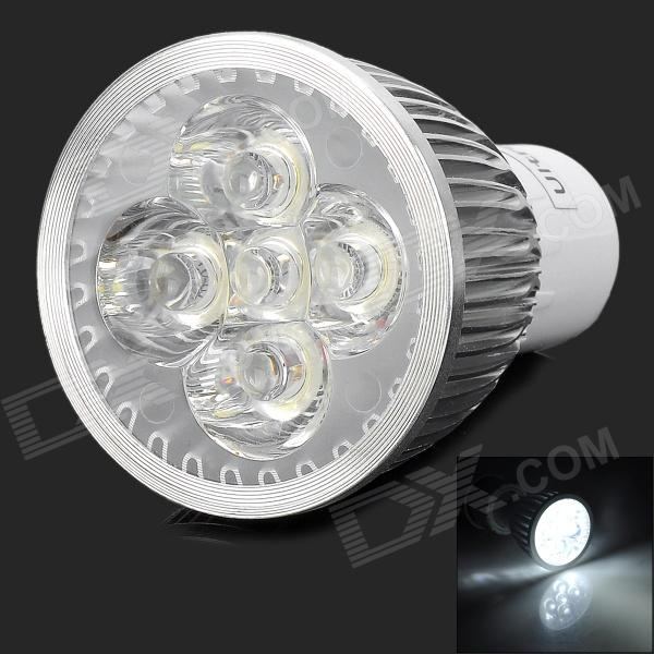 UltraFire 5 x 1W GU10 300lm 6500K 5-LED White Spotlight Bulb - Silver + White (85~265V)
