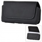 Durable Flip-open Leather Belt Mounted Case for Samsung i9100 Galaxy S2 II - Black