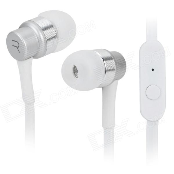 REMAX RM-535i In-Ear Earphone w/ Microphone for Iphone / Ipad / Samsung / BlackBerry / HTC - White ovleng ip680 stylish in ear earphones w microphone for samsung iphone htc black silver