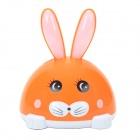 H-170A Cute Rabbit Shape Hi-Fi Mini Speaker w/ TF / FM - Orange + White