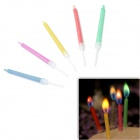 SYVIO Amazing Colored Flame Candles for Romantic Birthday Party - Multicolored (5 PCS)