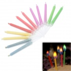 SYVIO Colored Flame Candles for Romantic Birthday Party - Multicolored (12 PCS)