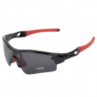 CARSHIRO 9183 Outdoor Cycling UV400 Protection Sunglasses w/ Replacement Lenses - Black + Red