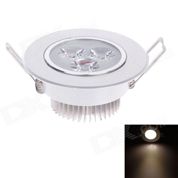YICHENG 3W 240lm 3500K 3-LED Warm White Light Ceiling Lamp - Silver (220V)