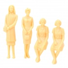 W-1/25 DIY 1:30 Scaled Plastic Women Figure Model (4 PCS)