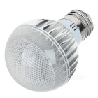 SD-01 E27 5W 550lm RGB 3-LED Light Spotlight w/ Remote Control - Silver + White (AC 85~265)
