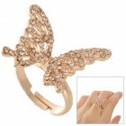 Shiying E01303 bowknot Stil Zinc Alloy Kristall Finger Ring - Goldene