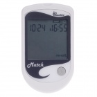 "Kmeter Match 2.3"" LCD Avoid Setting Code Glucose Monitoring System - White + Gray"