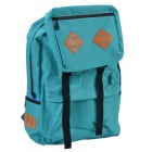 XINDA Stylish Durable Multifunctional PU Leather + Canvas Backpack - Green
