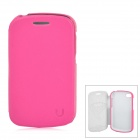 USAMS Q10XK04 Protective PU Leather + PC Case for BlackBerry Q10 - Deep Pink