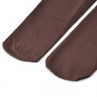 Velvet Full Foot Tights Pantyhose - Coffee