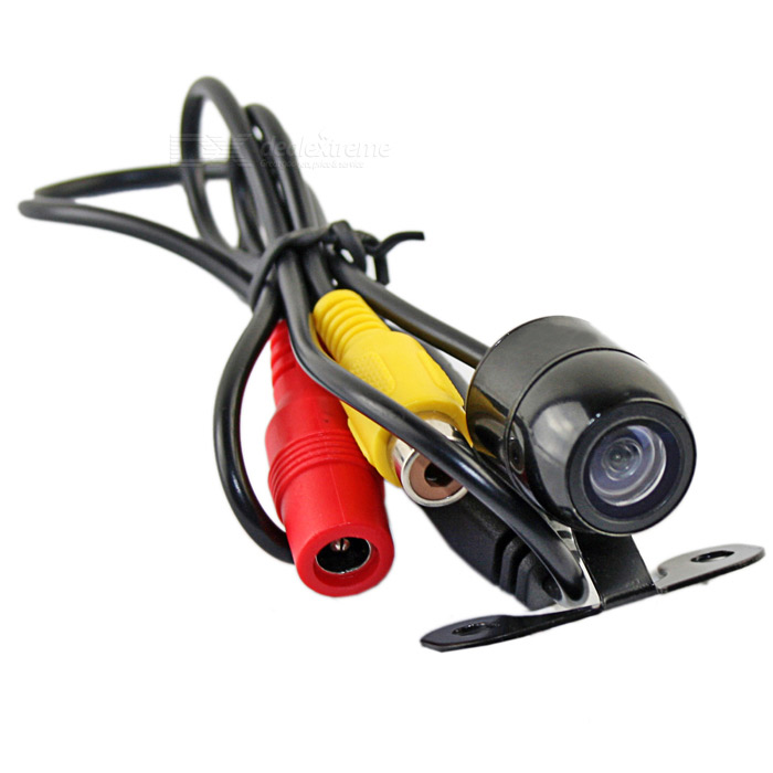 480TVL 135-170° Wide Angle Waterproof Car Rear View Color Camera - Black (12V)