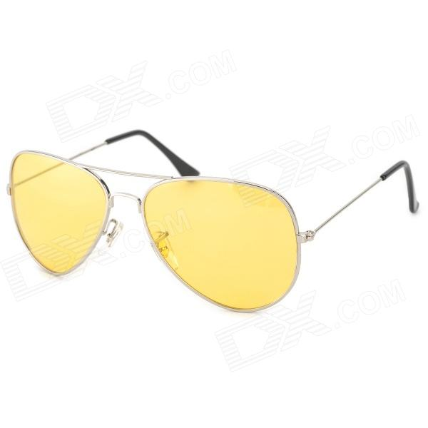 CARSHIRO 3025 UV400 Protection Polarized Resin Lens Driving Night Vision Glasses - Yellow carshiro 3025 fashion uv400 protection polarized resin lens driving sunglasses black silver