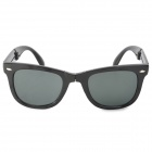 OREKA S720 UV400 Protection Foldable Resin Lens Sunglasses - Black + Dark Green