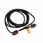 Jeway JCA-0020 Gold Plated HDMI V1.4 Male to Male Connection Cable - Black + Orange (150cm)