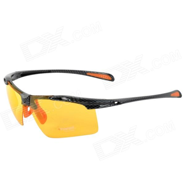 CARSHIRO 9150 UV400 Protection Resin Lens Polarized Night Vision Driving Glasses reedoon r3043 polarized resin lens uv400 night vision driving goggles silvery grey yellow