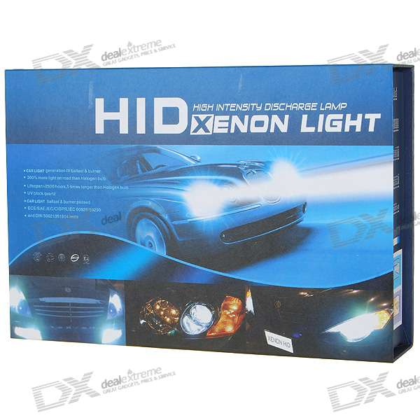 EckoMax Vehicle HID Headlamp Complete Set (9006 6000K)