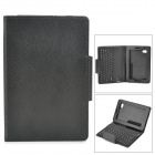 Fashionable Bluetooth V3.0 59-key Keyboard w/ PU Leather Case for Samsung P3100 / P3110 - Black