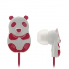 Panda Style In-Ear Headset - Red + White (3.5 mm / 120cm)