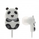 Cute Panda Style In-Ear Earphones - Black + White (3.5 mm Plug / 120cm-Cable)
