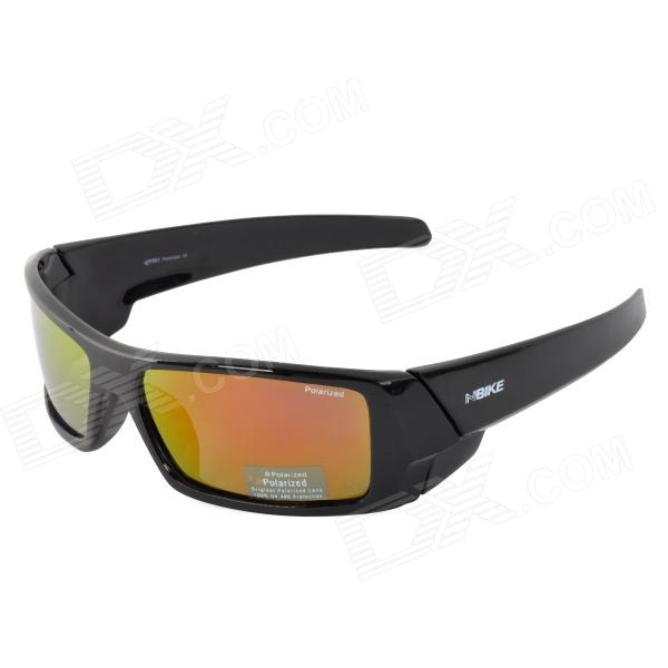 NBIKE BE02 Sport Grau Plating Red REVO Polarized Resin Objektiv Sonnenbrillen