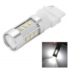 HUAJIAN Y-3156-15W 3156 15W 700lm 6500K 15- SMD 2323 LED White Light Car LED Lamp - Silver (10~30V)