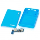 Circuit Board DIY Dual-USB del banco móvil de carga w / Case - Blue (4 x 18650)