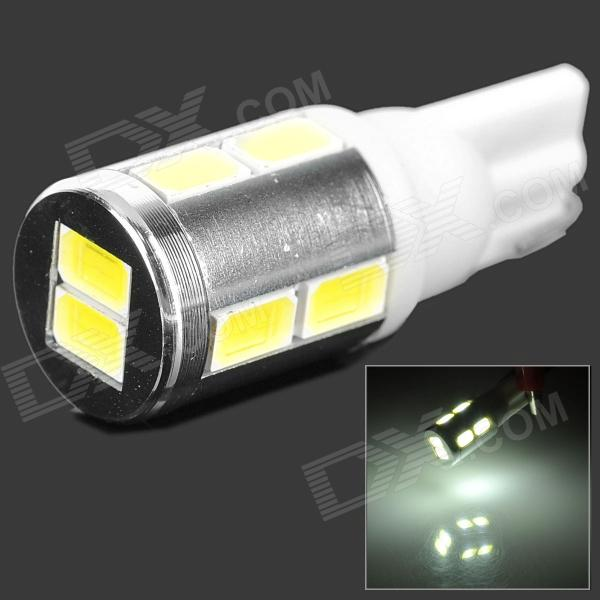 QCD-01 5w 300lm 6500k T10 White Light LED Steering Lamp for Car - White + Silver + Yellow (12~24V) 1pc 100w canbus bau15s py21w error free 1156py amber yellow 20 led 3030smd 7507 ac12v 24v