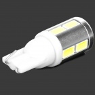QCD-01 5w 300lm 6500k T10 White Light LED Steering Lamp for Car - White + Silver + Yellow (12~24V)