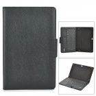 IS11 Bluetooth V3.0 81-key Keyboard w/ Touch Panel + PU Leather Case for Windows Surface - Black