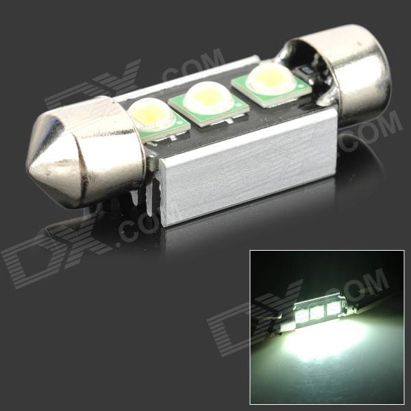 LX 3w 250lm 6500k White Light 5050 SMD LED Car Reading Lamp w/ Lens + Electrodeless Input (12~13.6V) lx 3w 250lm 6500k white light 5050 smd led car reading lamp w lens electrodeless input 12 13 6v