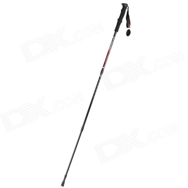 Creeper Portable 3-Section Aluminum Alloy + Tungsten Carbides Alpenstock - Red + Black