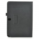 Classic Flip-open PU Leather Case w/ Auto Sleep for Samsung Galaxy Note10.1 SMP600 - Black