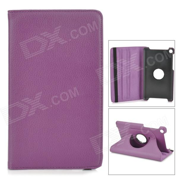 Stylish Flip-open PU Leather Case w/ 360' Rotating Back for Google Nexus 7 - Deep Purple deep purple deep purple stormbringer 35th anniversary edition cd dvd