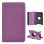Stylish Flip-open PU Leather Case w/ 360' Rotating Back for Google Nexus 7 - Deep Purple