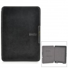 Classic Flip-open PU Leather Case w/ Auto Sleep for Kindle 5 - Black