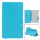Stylish Super Thin Flip-open PU + TPU Case w/ Holder for Google Nexus 7 II - Blue + Grey