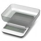 "KS01 4"" Screen Digital Kitchen Scale - Silver + Black (4 x AAA)"