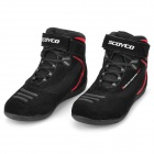 SCOYCO MBT001 Motorcycle Racing / Cyling Fleece + Rubber Boots - Black + Red (42 / Pair)