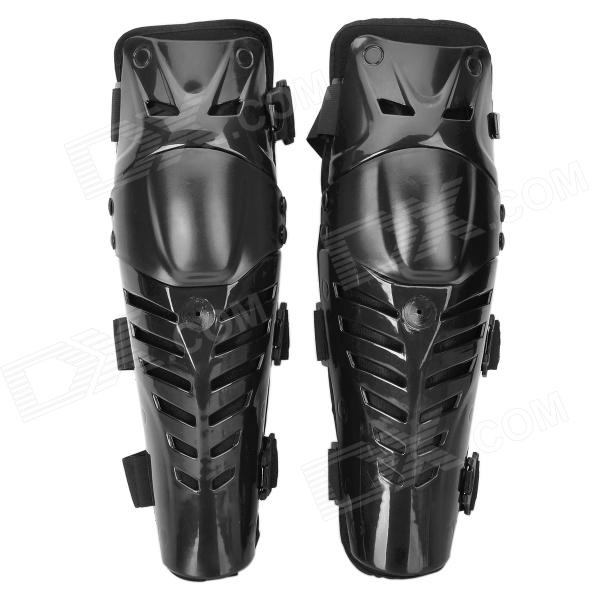 FG FG-112 Protective PE + EVA + Neoprene Motorcycle Cycling Knee Supports - Black (Pair)